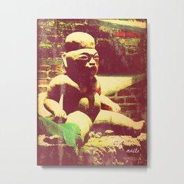 Mayan figurine Metal Print