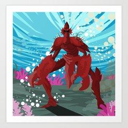 crab evil monster Art Print