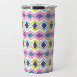 Chevron Diamond Pattern Bright Stripes Texture Travel Mug