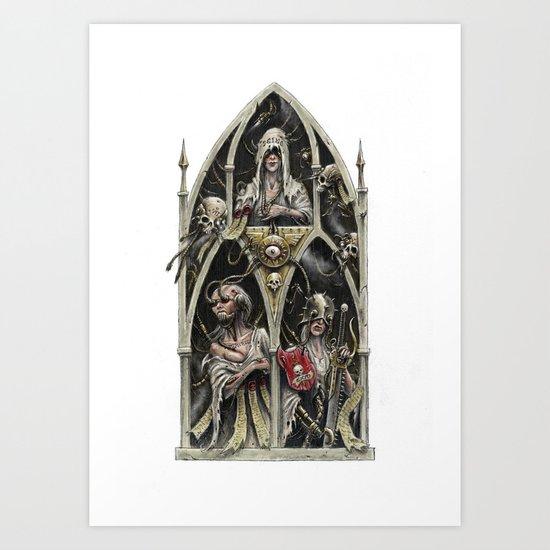 The Stygian Witches Art Print