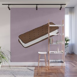 THERE'S ALWAYS TIME FOR AN ICE CREAM SANDWICH! - LILAC Wall Mural