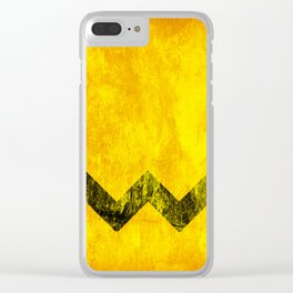 Distressed Charlie Brown Clear iPhone Case
