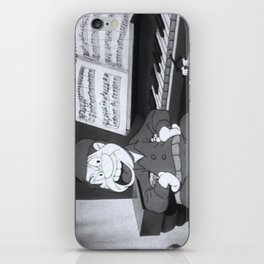 Private Snafu Angry at Piano iPhone Skin