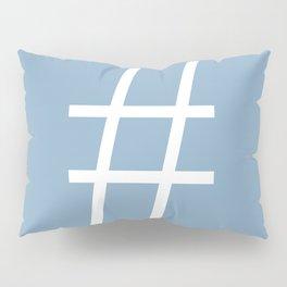 number sign on placid blue color background Pillow Sham