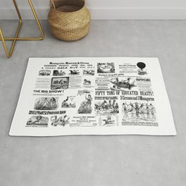 Victorian Circus Poster Rug