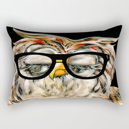 Hipster Owl Rectangular Pillow