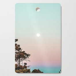 Rainbow Color Sunset // Incredible Clear Sky Photograph Through the Forest Trees Cutting Board
