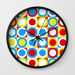 Circles (Primary) Wall Clock