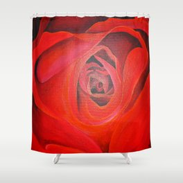 The Heart of the Rose Shower Curtain