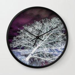 Inclined tree Wall Clock