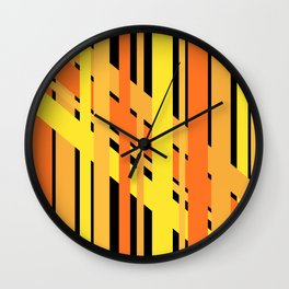 ORANGE AND YELLOW BEING FRIENDS Wall Clock