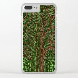 Dot Art Lawn Tree Digital Art Clear iPhone Case
