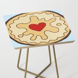 Jammy Dodger British Biscuit Side Table