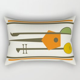 Mid-Century Modern Art Musical Strings Rectangular Pillow