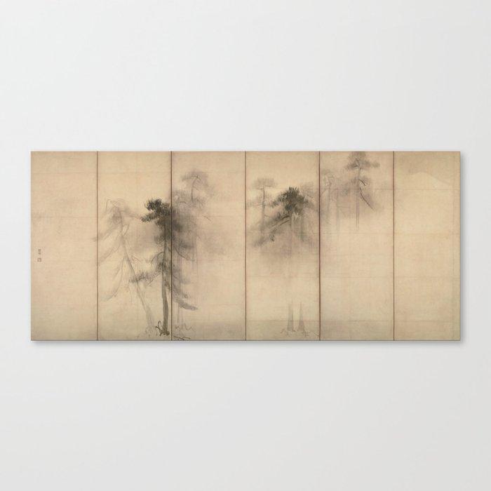 Pine Trees Six-Fold Azuchi-Momoyama Period Japanese Screen - Hasegawa Tohaku Leinwanddruck