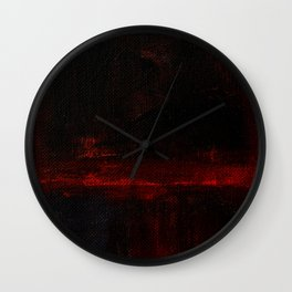 Mark Rothko Interpretation Red Blue Acrylics On Canvas Wall Clock
