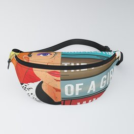 Feminist Ruth Bader Ginsburg RBG Quote Girl With Book Fanny Pack