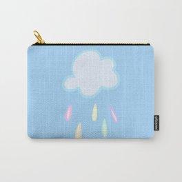 Pastel Rainbow Rain Cloud Carry-All Pouch