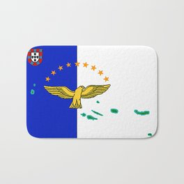Azores Flag with Map of the Azores Islands Bath Mat