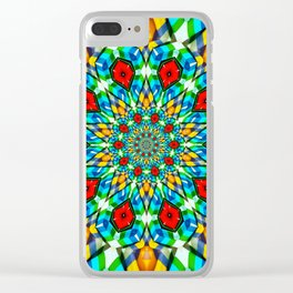 Folded Fabric Flower Clear iPhone Case