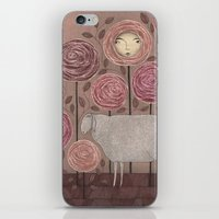 sleeping beauty iPhone & iPod Skins featuring Sleeping beauty by Judith Clay