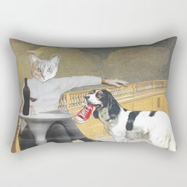 The Difference Between Cats and Dogs II Rectangular Pillow