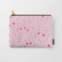 Cutsie Floral in Pink Carry-All Pouch