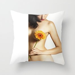 Longing for Love nude Photography Throw Pillow