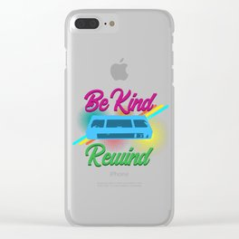 Be Kind Rewind VHS Video Cassette Recorder Tapes Lovers Machine Gift Clear iPhone Case