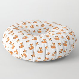 Red foxes pattern Floor Pillow