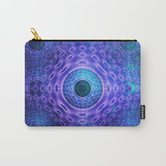 Groovy abstract with Circles and tribal patterns  Carry-All Pouch