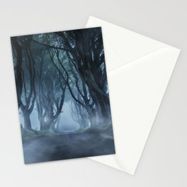 Very cold foggy morning at Dark Hedges Stationery Cards