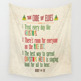 Buddy the Elf! The Code of Elves Wall Tapestry