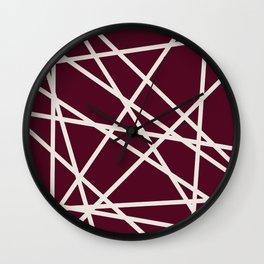 Maroon Line Wall Clock