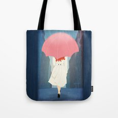 She Went Walking In The Rain Tote Bag