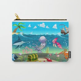Funny scene under the sea. Carry-All Pouch