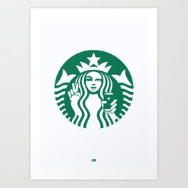 Selfie - 'Starbucks ICONS' Art Print