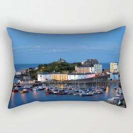 TENBY HARBOUR. PEMBROKESHIRE.WALES. Rectangular Pillow