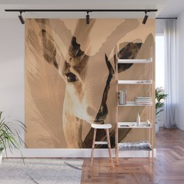 Beautiful and fast - Impala portrait #decor #society6 #buyart Wall Mural