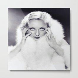Classic Carole Lombard Metal Print