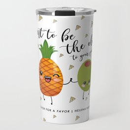 Pineapple and Olive Pizza Confetti Travel Mug