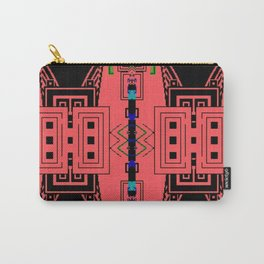 Hyper dimensional 8bit Fabric Carry-All Pouch