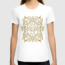 Lovecraftian pattern dark T-shirt