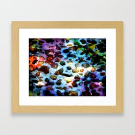 Pebbles In Snow Framed Art Print