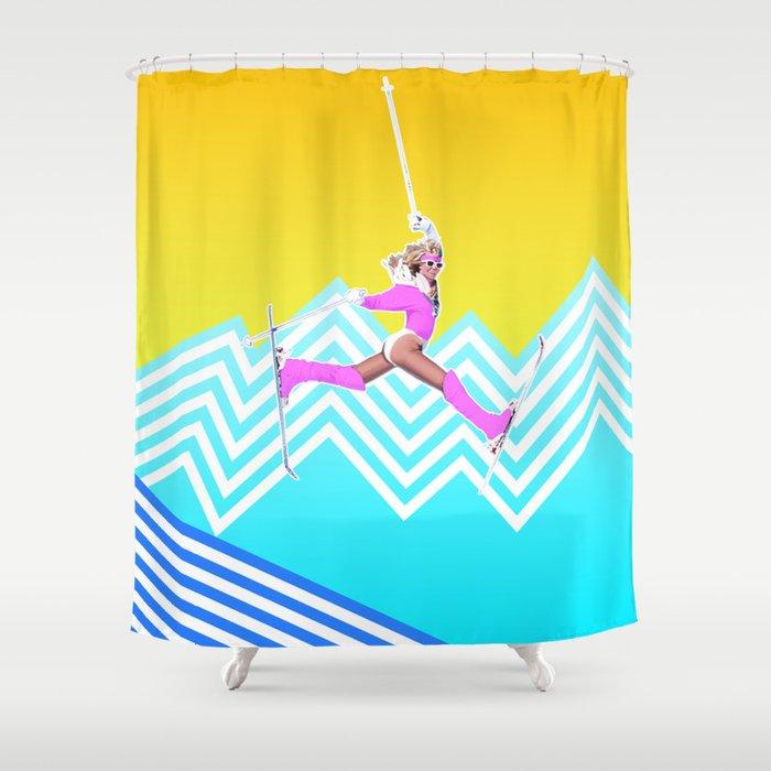 Ski like it's 1989 Shower Curtain