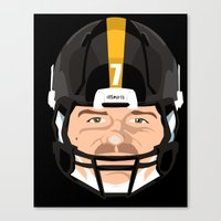 steelers Canvas Prints featuring Faces- Pittsburgh by IllSports