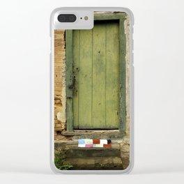 Rural door Clear iPhone Case