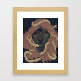 of witches and pets Framed Art Print