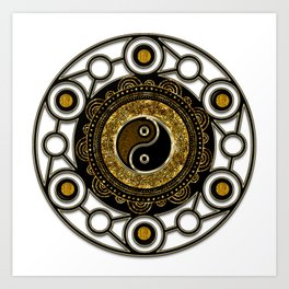 Geometry Balance Life Mandala Art Print