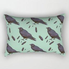 Mint Raven Rectangular Pillow
